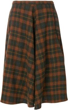Bellerose checked A-line skirt