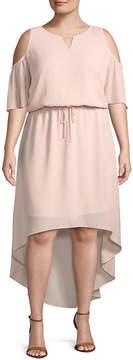 BELLE + SKY Cold Shoulder High Low Dress - Plus