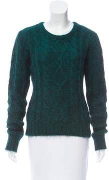 BLK DNM Metallic Mohair-Blend Sweater