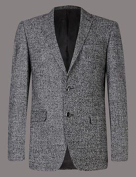 Marks and Spencer Wool Rich 2 Button Jacket
