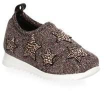 Giuseppe Zanotti Baby's& Toddler's Star Embellished Slip-On Sneakers
