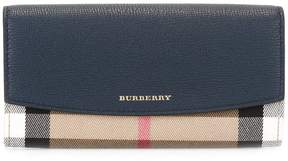 Burberry House Check flap wallet - BLUE - STYLE