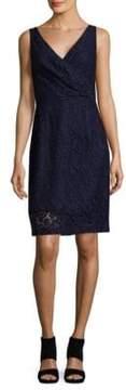 Donna Morgan Lulu V-Neck Lace Mini Dress