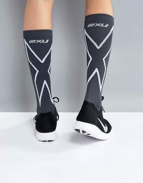 2XU Performance Compression Run Socks In Black MA4153e