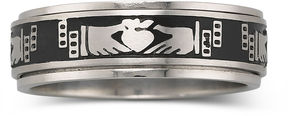 JCPenney FINE JEWELRY Men's Stainless Steel Claddagh Ring