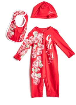 GUESS Boy's Three-Piece Coverall Set (0-12M)