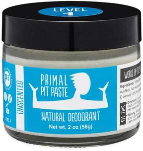 Smallflower Unscented (Light) Jar Pit Paste by Primal Products (2oz Deodorant Cream)