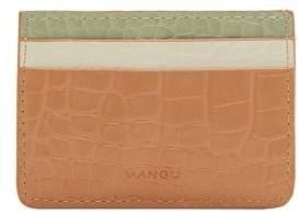 MANGO Croc-effect cardholder