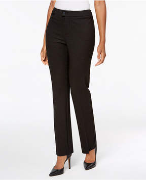 Charter Club Windowpane Ponte Straight Leg Pants, Created for Macy's