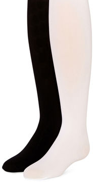 JCPenney Total Girl 2-pk. Opaque Tights - Girls 4-14