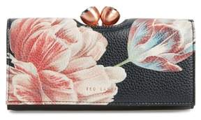 Ted Baker Tranquility Print Leather Matinee Wallet