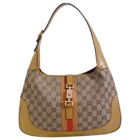 Gucci Jackie cloth handbag - BEIGE - STYLE