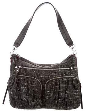 MZ Wallace Leather-Trimmed Woven Bag