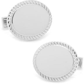 Ravi Ratan Rope Border Oval Cufflinks