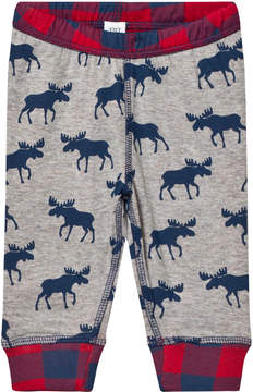 Hatley Grey Reversible Moose Print Jersey Bottoms