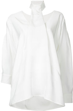 CHRISTOPHER ESBER tie-neck drape blouse