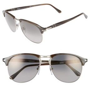 Persol Men's 56Mm Keyhole Sunglasses - Grey Horn