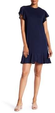 ECI Flutter Sleeve Shift Dress