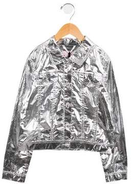 Lanvin Petite Girls' Embellished Metallic Jacket