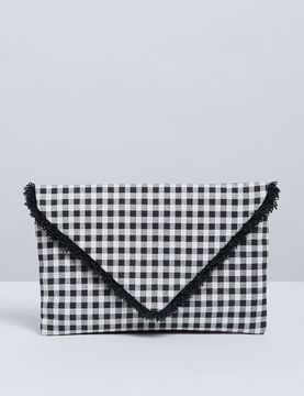 Gingham Envelope Handbag