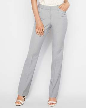 Express Mid Rise Check Barely Boot Publicist Pant