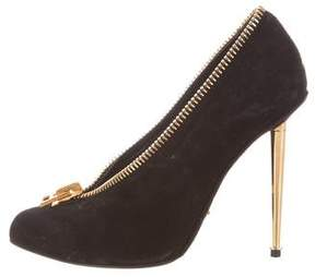 Tom Ford Suede Zip Pumps