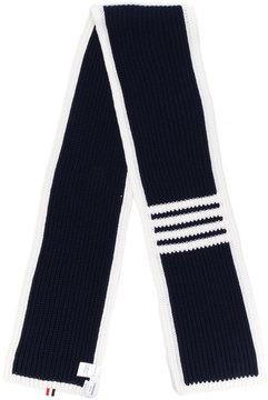 Thom Browne contrast stripe scarf