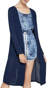BCBGeneration Cowl-Back Laser-Cut Jacket