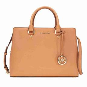 Michael Kors Savannah Saffiano Leather Satchel- Acorn - ONE COLOR - STYLE