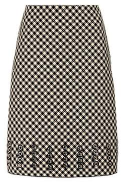 Bottega Veneta Checked cotton and wool skirt