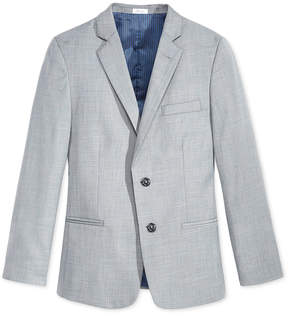 Calvin Klein Sharkskin Deco Suit Jacket, Big Boys Husky (8-20)