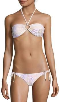 Melissa Odabash Women's Two-Piece Animal-Print Halter Bikini