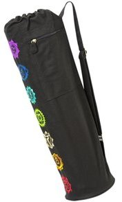 Gaiam Chakra Embroidered Yoga Mat Bag 45921