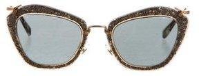 Miu Miu Glitter Oversize Sunglasses