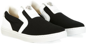 Young Versace Medusa slip-on sneakers