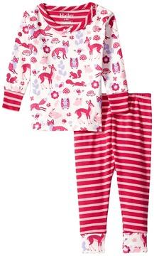 Hatley Woodland Tea Party Long Sleeve Mini Pajamas Girl's Pajama Sets