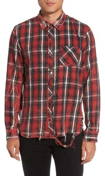 Hudson Men's Weston Slim Fit Plaid Sport Shirt