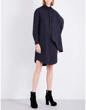 Chalayan Draped-panel cotton-poplin shirt dress
