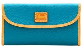 Dooney & Bourke Patterson Leather Continental Clutch Wallet - TURQUOISE - STYLE
