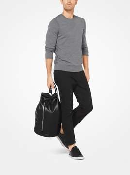 Michael Kors Nathaniel Leather Bucket Bag