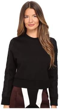 Neil Barrett Skinny Short Laced Sweatshirt Women's Sweatshirt