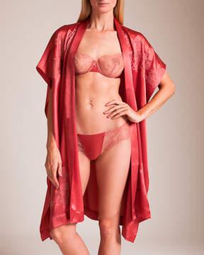 Carine Gilson Rose's 3⁄4 Silk Satin Kaftan Kimono