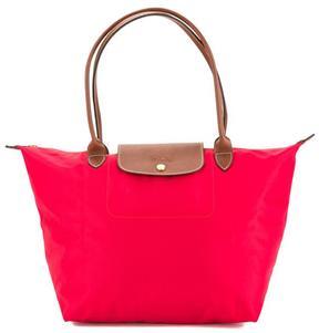 Longchamp Red Nylon Canvas Le Pliage L Long Strap Bag - ONE COLOR - STYLE