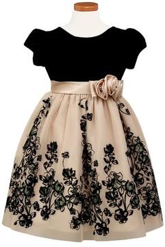 Sorbet Girl's Velvet Bodice Fit & Flare Dress