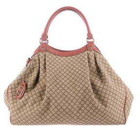 Gucci Large Diamante Sukey Bag - NEUTRALS - STYLE