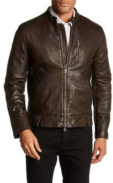 John Varvatos Collection Garment Washed Leather Jacket