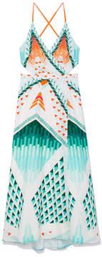 Temperley London Sun Shade Wrap Dress
