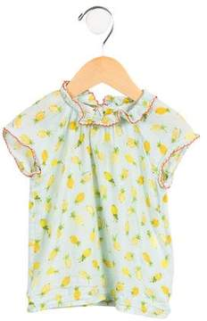 Gucci Girls' Pineapple Printed Top