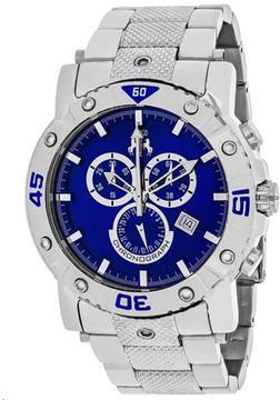 Jivago Titan JV9125XL Men's Round Silver Stainless Steel Watch