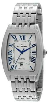 Peugeot Watches Men's Tonneau Case Guilloché Dial Watch - Silver